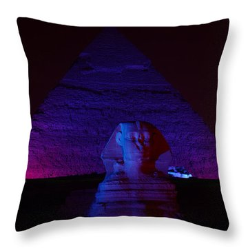 Cheops In Blue Throw Pillow