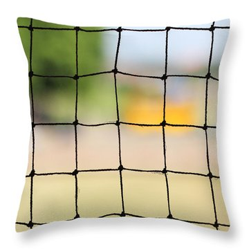 Chequered Present Bleak Future Throw Pillow