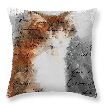 Cher Chat ... Throw Pillow