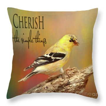 Throw Pillow featuring the photograph Cherish by Darren Fisher