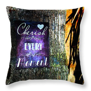 Cherish Every Tropical Moment Throw Pillow by Susan Vineyard