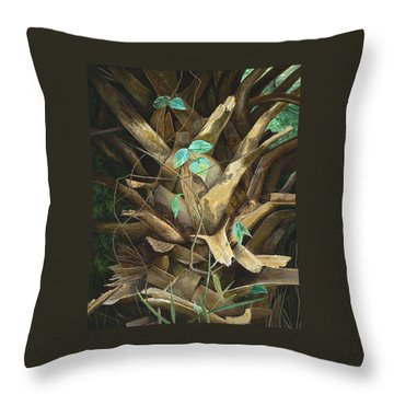 Throw Pillow featuring the painting Cherished Boots by AnnaJo Vahle