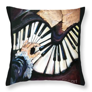 Cherished Music Throw Pillow