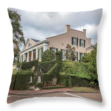 Cherokee House Natchez Ms Throw Pillow