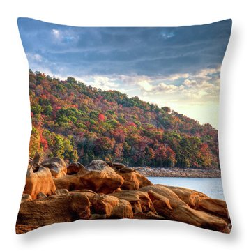 Throw Pillow featuring the photograph Cherokee Lake Color II by Douglas Stucky