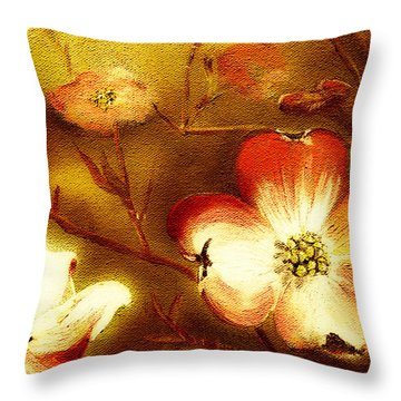 Cherokee Rose Dogwood - Glow Throw Pillow
