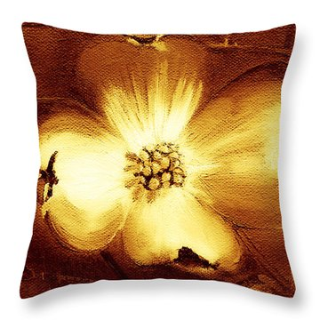 Cherokee Rose Dogwood - Single Glow Throw Pillow