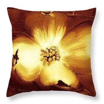 Cherokee Rose Dogwood - Single Glow Throw Pillow