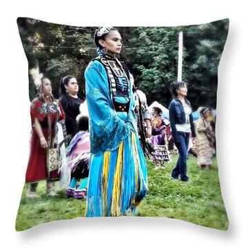 Cherokee Warrior Throw Pillow