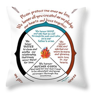 Cherokee Wedding Blessing Throw Pillow