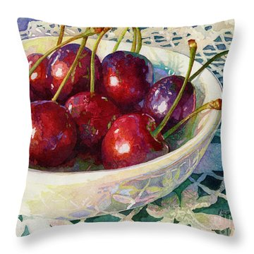 Cherries Jubilee Throw Pillow
