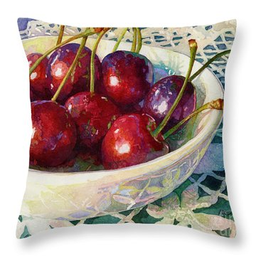Cherries Jubilee Throw Pillow