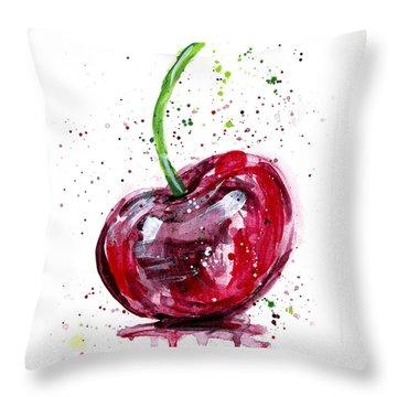 Cherry 2 Throw Pillow by Arleana Holtzmann