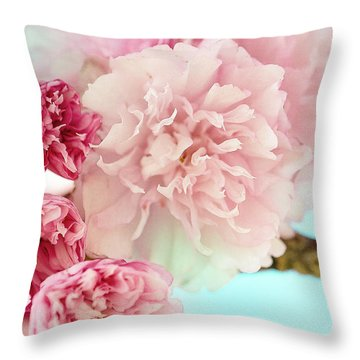 Kwanzan Cherry Throw Pillow