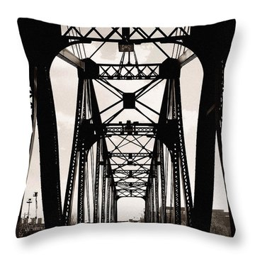 Cherry Avenue Bridge Throw Pillow