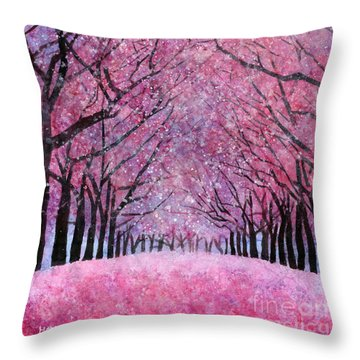Throw Pillow featuring the painting Cherry Blast by Hailey E Herrera