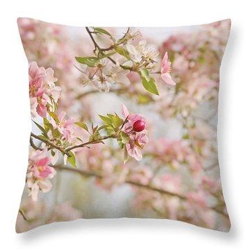 Cherry Blossom Delight Throw Pillow by Kim Hojnacki