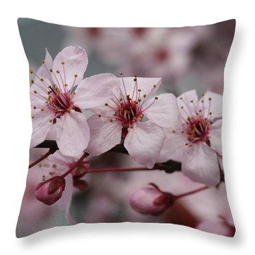 Cherry Blossom Fairy Wand Throw Pillow