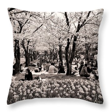 Cherry Blossom Festival Throw Pillow