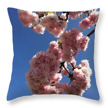 Cherry Blossom Here At Cavorting In The Throw Pillow