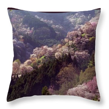 Cherry Blossom Season In Japan Throw Pillow by Navin Joshi