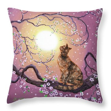 Cherry Blossom Waltz  Throw Pillow