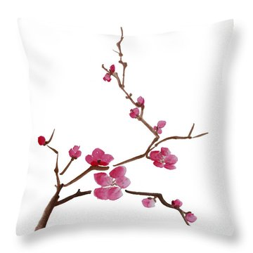 Cherry Blossoms 1 Throw Pillow by McKenzie Leopold