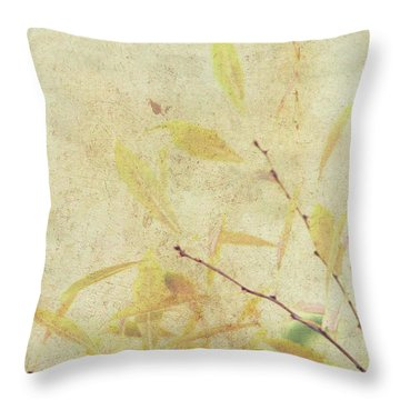 Cherry Branch On Rice Paper Throw Pillow