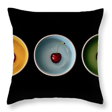Cherry Color Block Experiment Throw Pillow