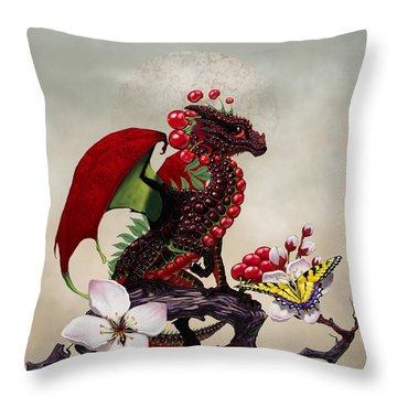 Cherry Dragon Throw Pillow