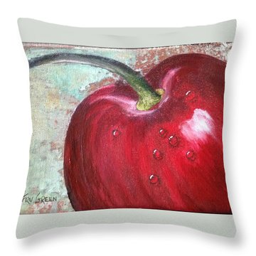 Sweet Cherry Throw Pillow