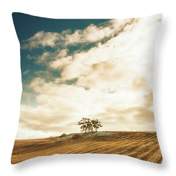 Cherry Farm In The Sewing Throw Pillow