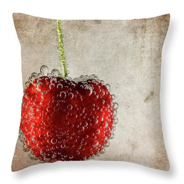 Cherry Fizz Throw Pillow