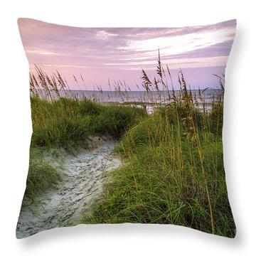Cherry Grove Beach Scene Throw Pillow
