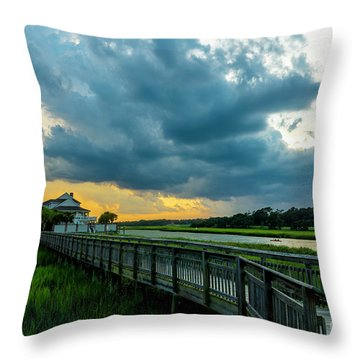 Cherry Grove Channel Marsh Throw Pillow
