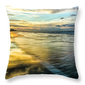 Cherry Grove Golden Shimmer Throw Pillow