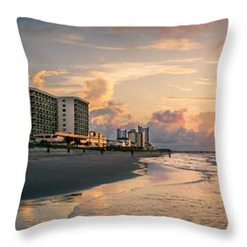 Cherry Grove Panoramic Sunrise Throw Pillow