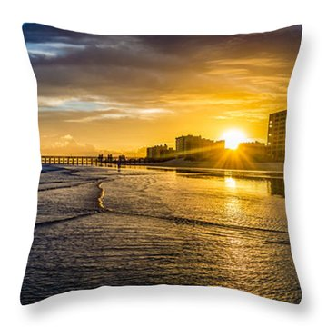 Cherry Grove Sunset Throw Pillow