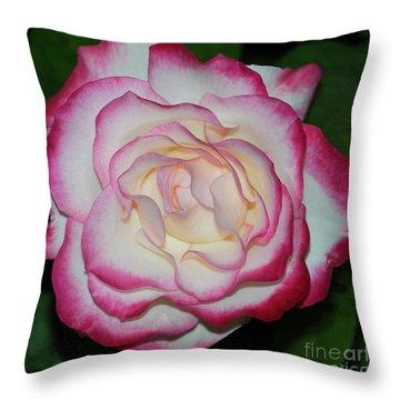 Cherry Parfait Rose 1 Throw Pillow