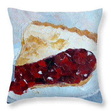 Cherry Pi Throw Pillow by Susan Woodward