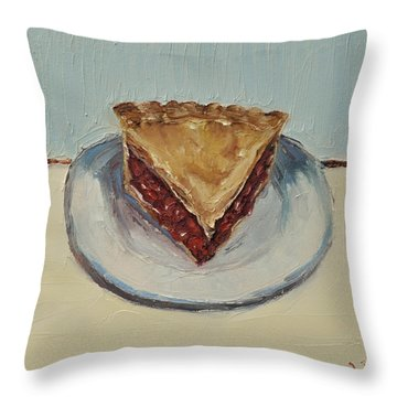 Cherry Pie Throw Pillow by Lindsay Frost