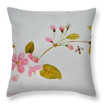 Cherry Pink Throw Pillow