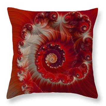 Cherry Swirl Throw Pillow