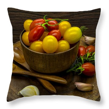 Cherry Tomatoes Still Life Throw Pillow