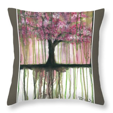 Fruit Tree #3 Throw Pillow by Rebecca Childs