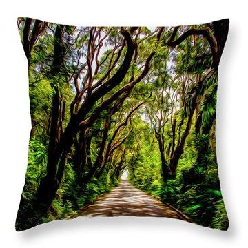Cherry Tree Hill Throw Pillow