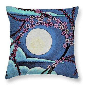 Cherry Whip Moon Throw Pillow