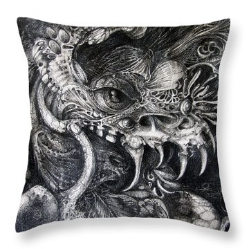 Cherubim Of Beasties Throw Pillow by Otto Rapp