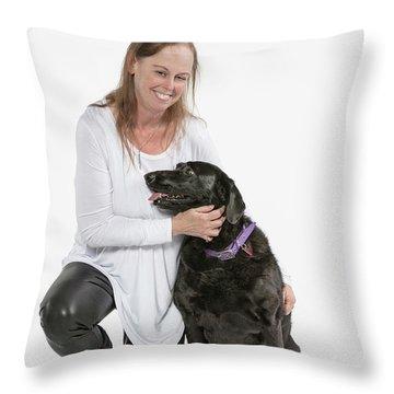 Cheryl 03 Throw Pillow by M K  Miller
