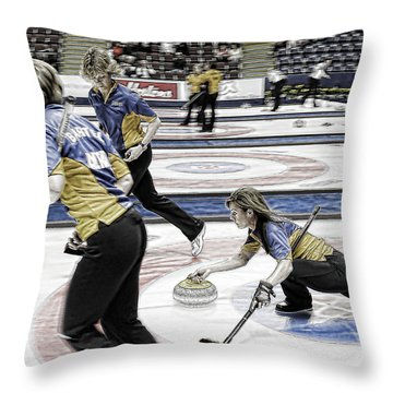 Cheryl Bernard Throw Pillow by Lawrence Christopher